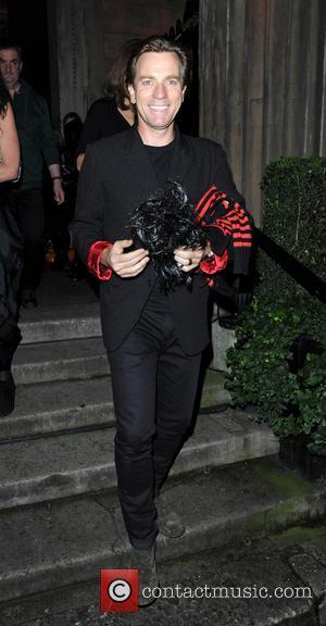 Ewan McGregor - Unicef Halloween Ball held at One Mayfair - Departures - London, United Kingdom - Thursday 31st October...