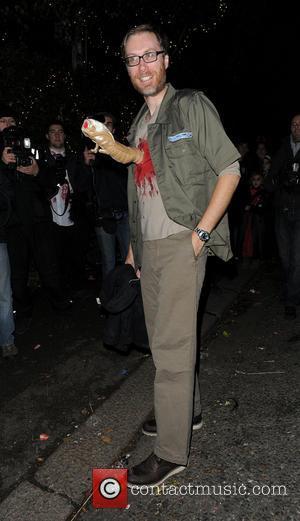 Stephen Merchant - Jonathan Ross Halloween party - London, United Kingdom - Thursday 31st October 2013