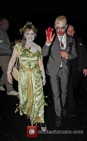 Simon Pegg - Jonathan Ross Halloween Party - London, United Kingdom - Thursday 31st October 2013