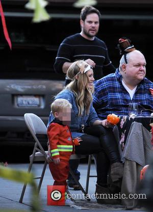 Hilary Duff, Mike Comrie, Luca and Bob