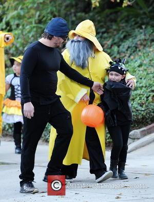 Melissa McCarthy, Vivian and Ben Falcone - Actress Sandra Bullock trick or treating with good friend Melissa McCarthy and thier...