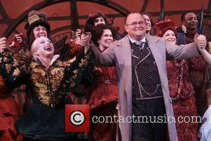 Carol Kane and Tom McGowan - The 10th Broadway Anniversary of Wicked at the Gershwin Theatre-curtain call. - New York,...