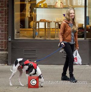 Amanda Seyfried - Amanda Seyfried walking her dog in East Village in New York City - New York City, NY,...
