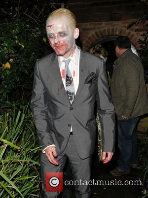 Simon Pegg - Jonathan Ross hosts his annual Halloween Party at his home in North London - London, United Kingdom...