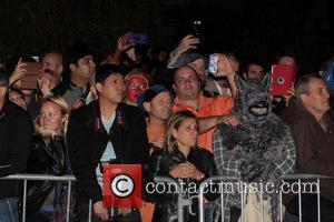 Kelly Ripa and Halloween Crowds