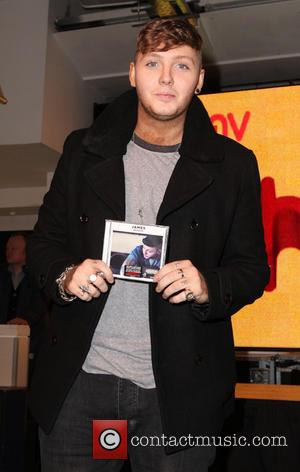 James Arthur - James Arthur signs copies of his CD 'James Arthur' at HMV on Oxford Street - London, United...