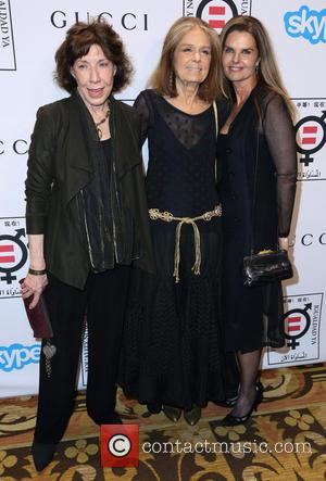 Lily Tomlin, Gloria Steinem and Maria Shriver
