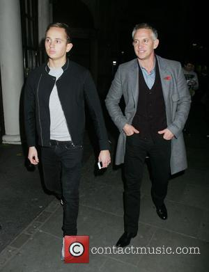 Gary Lineker and George Lineker - Celebrities outside the Playhouse Theatre after watching 'Spamalot' - London, United Kingdom - Monday...