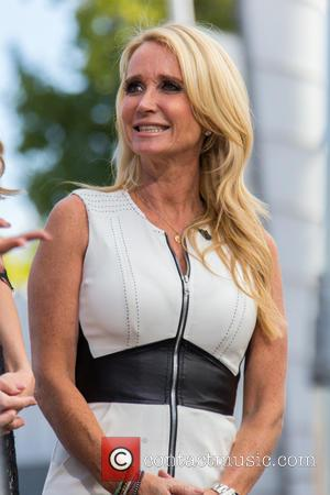 Kim Richards - Cast members from the Real Housewives of Beverly Hills film an episode of 'Extra' at Universal Studios....