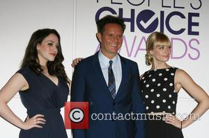 Kat Dennings, Mark Burnett and Beth Behrs - People's Choice 2014 Nominations Press Conference held at The Paley Center for...