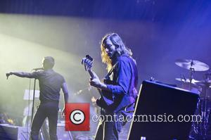 The Killers - The Killers performing live in concert at the Hammersmith Apollo - London, United Kingdom - Wednesday 6th...