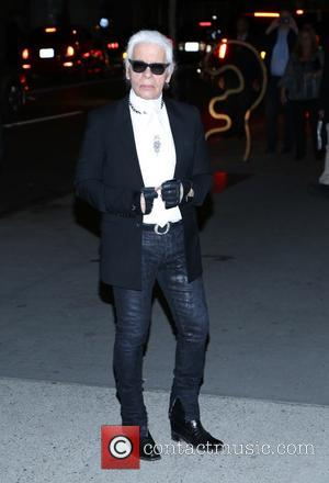Karl Lagerfeld - the Museum of Modern Art 2013 Film benefit - A Tribute To Tilda Swinton on November 5,...