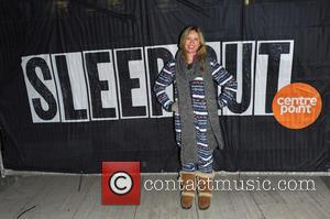 Brooke Kinsella - Celebrities bed down for the night in Exchange Square along with hundreds of city workers in support...