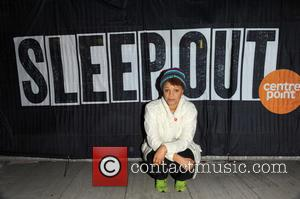 Gemma Cairney - Celebrities bed down for the night in Exchange Square along with hundreds of city workers in support...