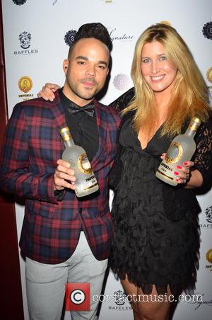 NATE JAMES and CHESKA HULL - Imperial Collection Gold Vodka launch at Raffles Chelsea - London, United Kingdom - Thursday...