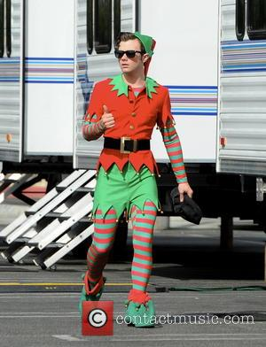 Chris Colfer - Actress Lea Michele plays a role of Santa's little Elfs for the Christamas