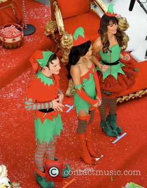 Lea Michele, Naya Rivera and Chris Colfer