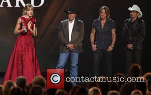 CMA And Country Stars Present A Tearful Taylor Swift With The Pinnacle Award