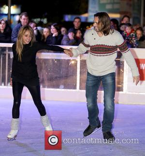 Samia Ghadie and Sylvain Longchambon - Celebrities perform at the opening of Ice Festival 2013 at Liverpool ONE - Liverpool...
