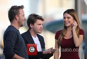 Stephen Dorff, Emile Hirsch and Maria Menonous - Emile Hirsch and Stephen Dorff appear on the Extra TV show with...