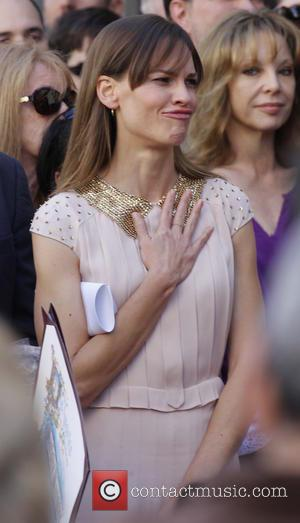 Hilary Swank - Mariska Hargitay Walk of Fame Star Ceremony, next to the star of her mother, Jayne Mansfield on...