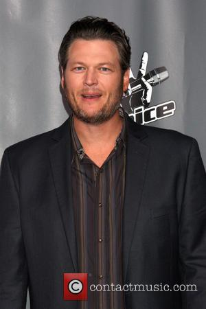 Blake Shelton - The Voice Judges Photocall - Season 5 at the Universal Studios Lot, Stage 19 - Los Angeles,...