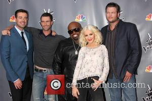 Christina Aguilera, Blake Shelton, Carson Daly and Ceelo Green