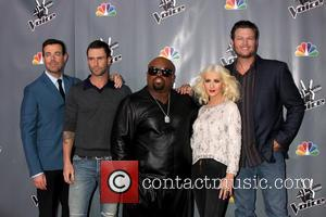 Christina Aguilera, Blake Shelton, Carson Daly and Ceelo Green