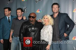 Carson Daly, Adam Levine, Ceelo Green, Christina Aguilera and Blake Shelton