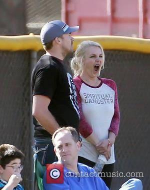 Britney Spears and David Lucado - Britney Spears watches her son's soccer game with boyfriend David Lucado and ex-husband Kevin...