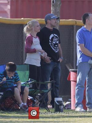 Britney Spears and David Lucado - Britney Spears and current boyfriend, David Lucado watch her son, Sean Preston play in...