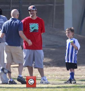 Kevin Federline and Sean Preston Federline - Britney Spears and current boyfriend, David Lucado watch her son, Sean Preston play...