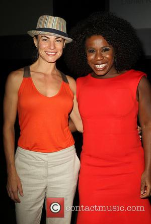 Traci Dinwiddie and Uzo Aduba - L.A. Gay & Lesbian Center's 42nd Anniversary Vanguard Awards Gala At Westin Bonaventure Hotel...