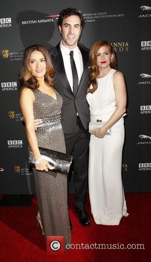Salma Hayek, Sacha Baron Cohen and Isla Fisher