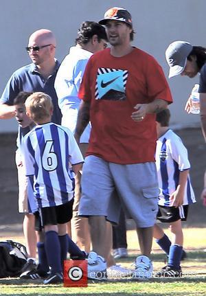 Kevin Federline - Britney Spears watches her son's soccer game with boyfriend David Lucado and ex-husband Kevin Federline - Los...
