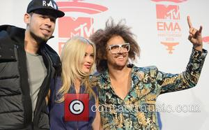 Afrojack, Laura Whitmore and Redfoo