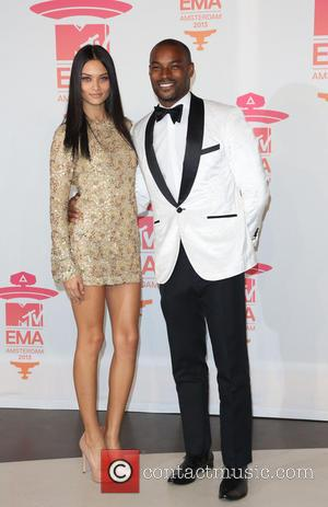 Tyson Beckford and Shanina Shaik - MTV Europe Music Awards (EMA's) 2013 held at Ziggo Dome - Press Room -...
