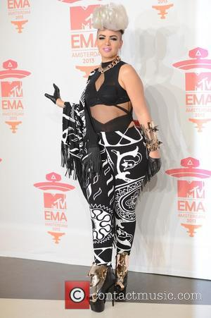Eva Simons - 20th MTV Europe Music Awards held at Ziggo Dome - Press Room - Amsterdam, Netherlands - Sunday...