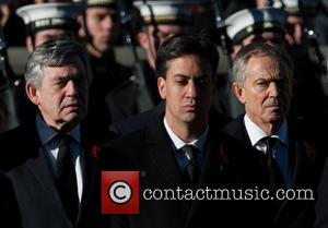Gordon Brown, Ed Miliband and Tony Blair