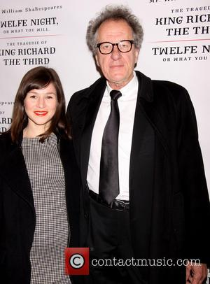 Yael Stone and Geoffrey Rush - Opening Day of Broadway's Richard III held at the Belasco Theatre-Arrivals. - New York...