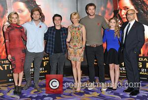 Jena Malone, Sam Claflin, Josh Hutcherson, Elizabeth Banks, Liam Hemsworth, Willow Shields and Stanley Tucci