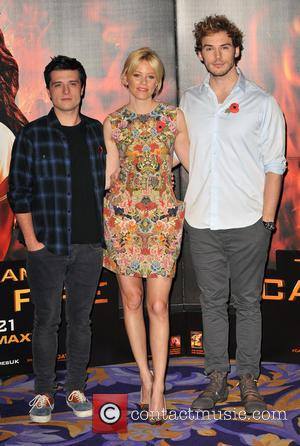 Josh Hutcherson, Elizabeth Banks and Sam Claflin