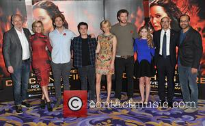 Francis Lawrence, Jena Malone, Sam Claflin, Josh Hutcherson, Elizabeth Banks, Liam Hemsworth, Willow Shields, Stanley Tucci and Jeffrey Wright