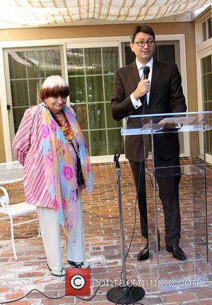 Agnes Varda and Consul General Of France M. Axel Cruau