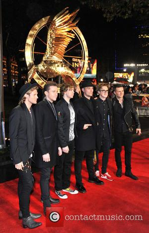 Tom Fletcher, Harry Judd, Matt Willis, Danny Jones, Dougie Poynter and James Bourne - World Premiere of 'The Hunger Games:...