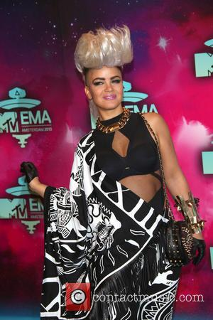 Eva Simons - 20th MTV Europe Music Awards held at Ziggo Dome - Arrivals - Amsterdam, Netherlands - Monday 11th...