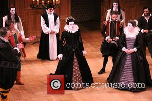Mark Rylance and Paul Chahidi - Opening night curtain call for Broadway's Twelfth Night at the Belasco Theatre. - New...