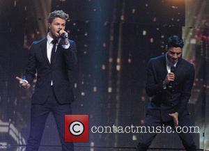 Jay McGuiness and Siva Kaneswaran - Children in Need Rocks concert at Hammersmith Apollo - Performance - London, United Kingdom...
