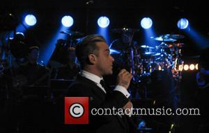 Robbie Williams - Children in Need Rocks concert at Hammersmith Apollo - Performance - London, United Kingdom - Tuesday 12th...