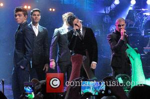 Siva Kaneswaran, Jay McGuiness, Tom Parker, Max George and Nathan Sykes - Children in Need Rocks concert at Hammersmith Apollo...